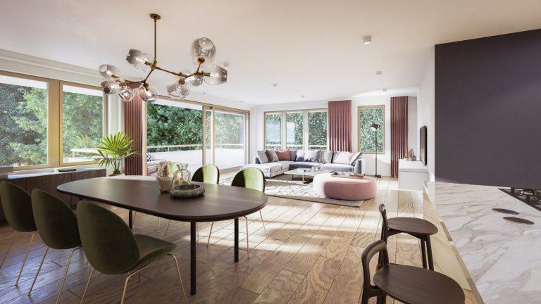 3D visualisatie van een groot appartement in Nederland