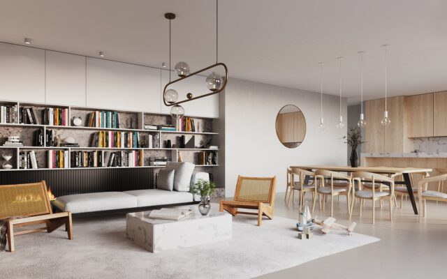 3D visualisatie interieur living