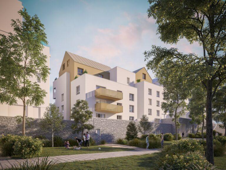 3D visualisatie appartementsgebouw Frankrijk