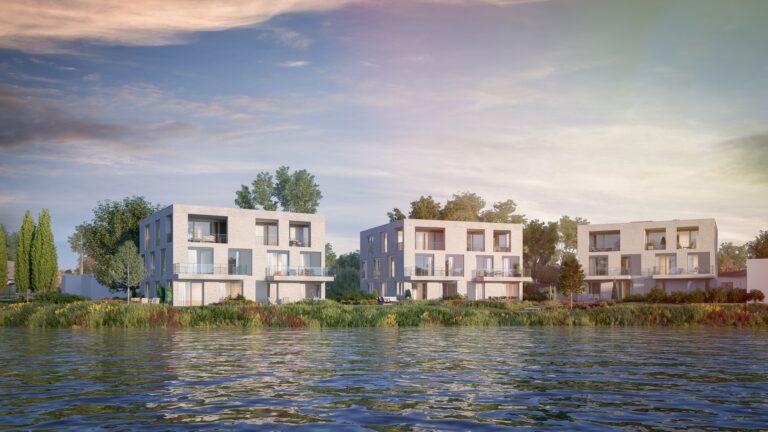 3D visualisatie 3 appartementsgebouwen Vlaanderen