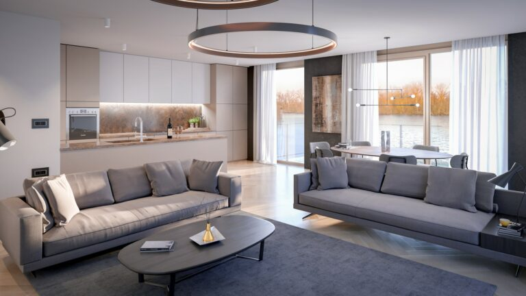 3D visualisatie interieur living room