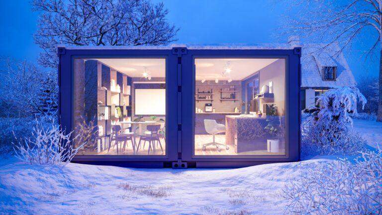 3D visualisatie van een home office