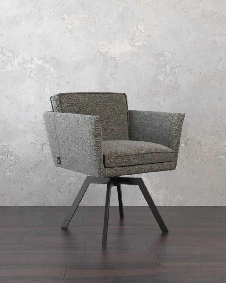 3D visualisatie van een stoel van Hans Kuijten